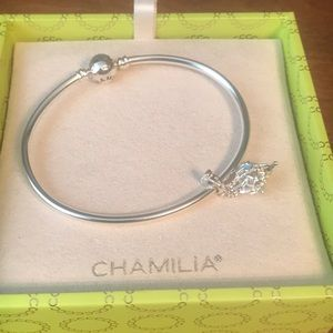 Authentic chamilia Bracelet with North Star bead